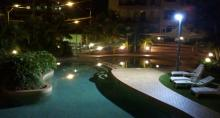Beachcomber Resort at night